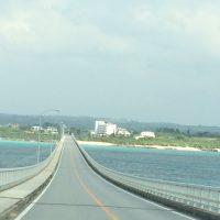 宮古島からの直線道路の橋