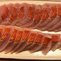 金目鯛のタタキ